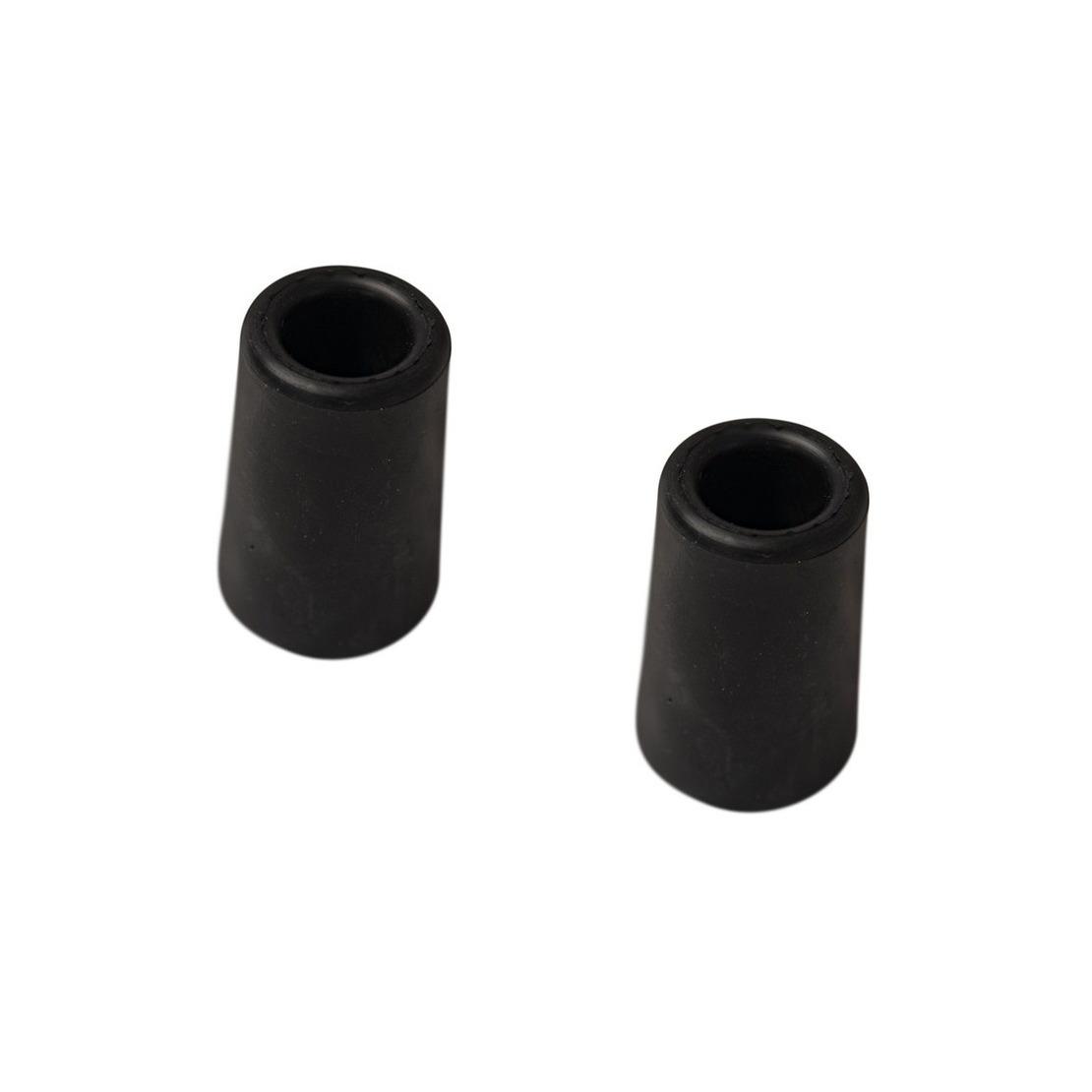 4x stuks deurstopper - deurbuffer rubber zwart 60 mm