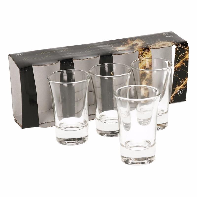 4x stuks shotglaasjes 5 cl - voor drankspelletjes