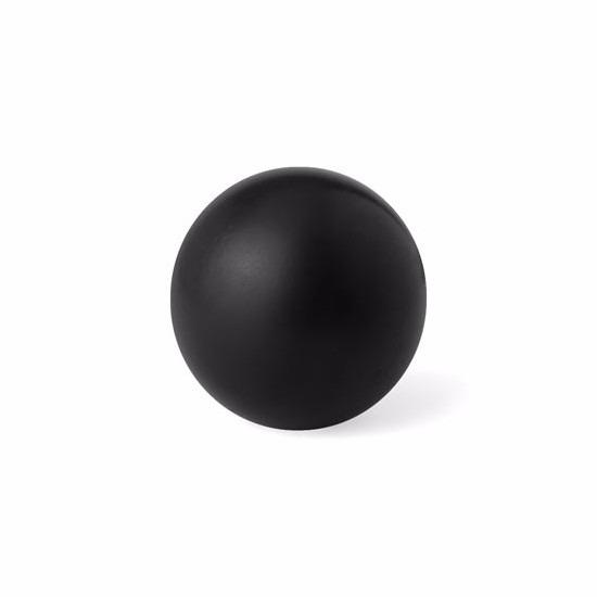 4x stuks zwarte anti stressballen 6 cm