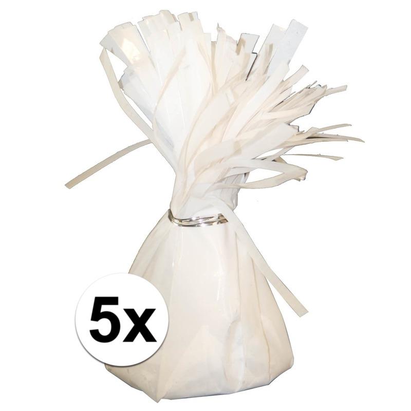 5 Ballongewichten wit 170 gr