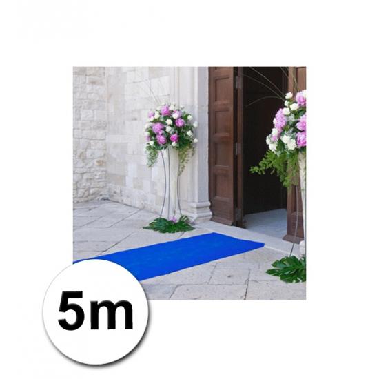 5 meter blauwe loper 1 meter breed