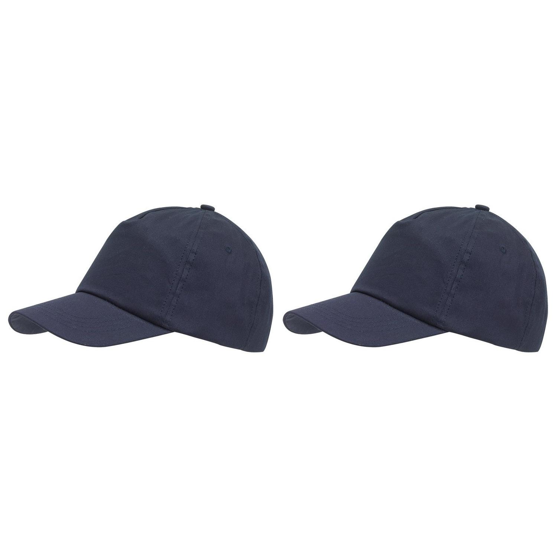 5-panel baseballcap donkerblauw met klittenbandsluiting voor volwassenen 10 stuks