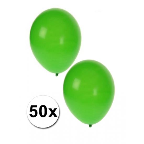 50 ballonnen groen
