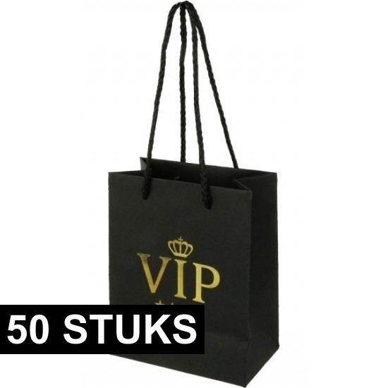 50x VIP kadotassen 11 x 14 cm