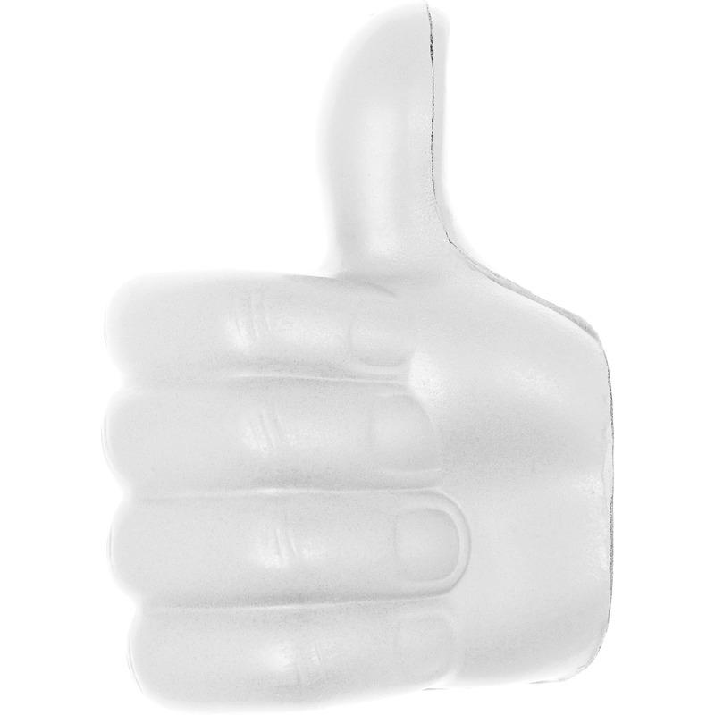5x Anti-stress figuur duimpje omhoog wit 8 cm
