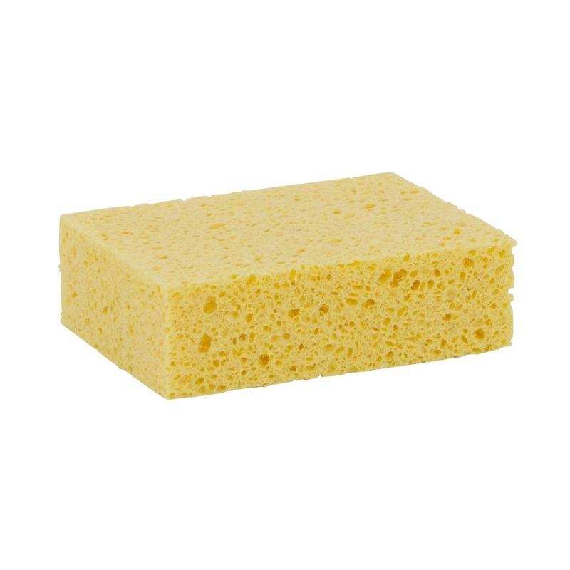 5x Gele schoonmaakspons viscose 13 x 9 x 3,5 cm