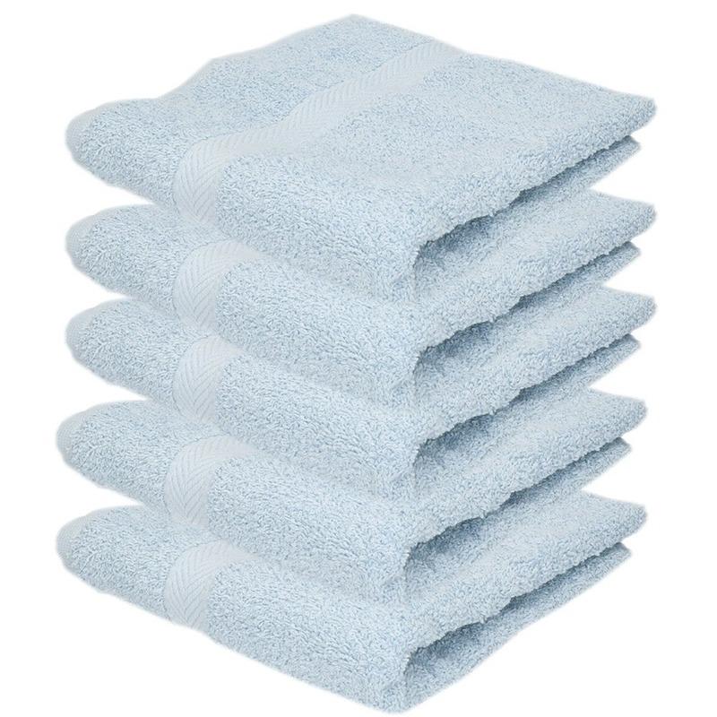 5x Luxe handdoeken lichtblauw 50 x 90 cm 550 grams
