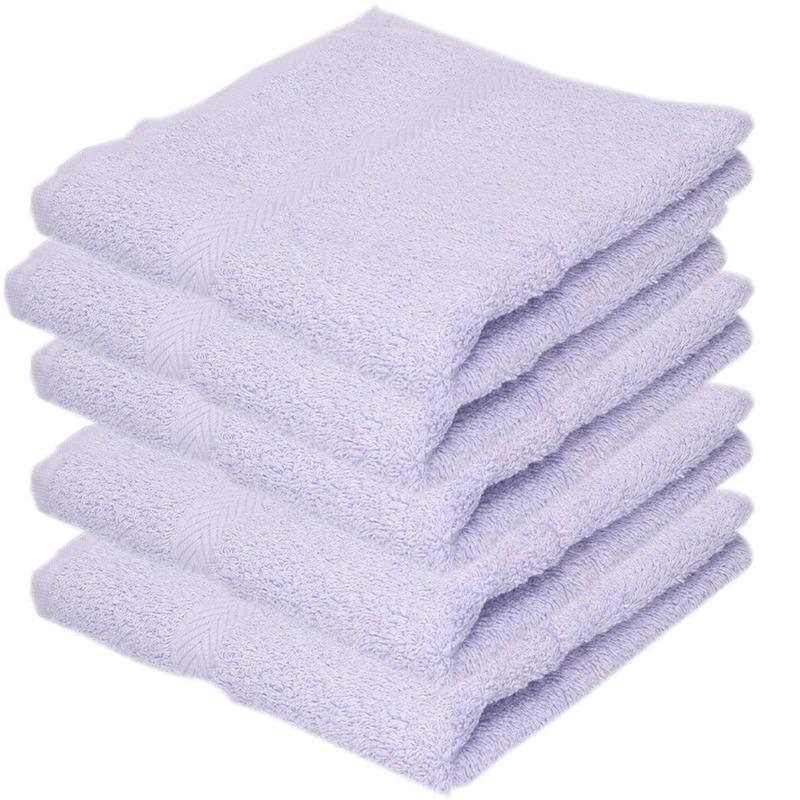 5x Luxe handdoeken lila paars 50 x 90 cm 550 grams