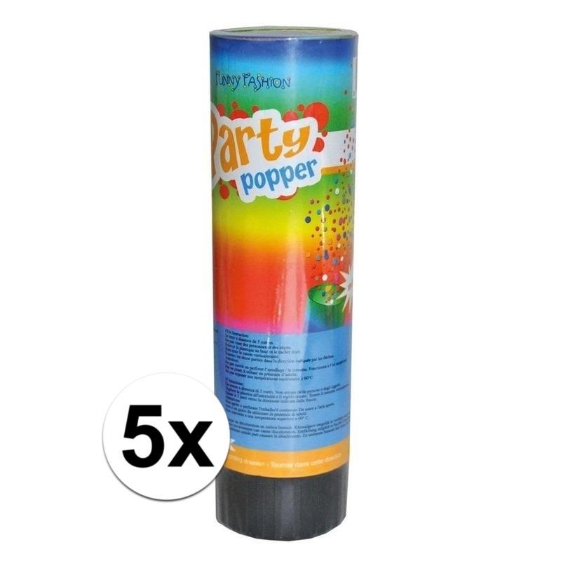 5x Party popper confetti 15 cm