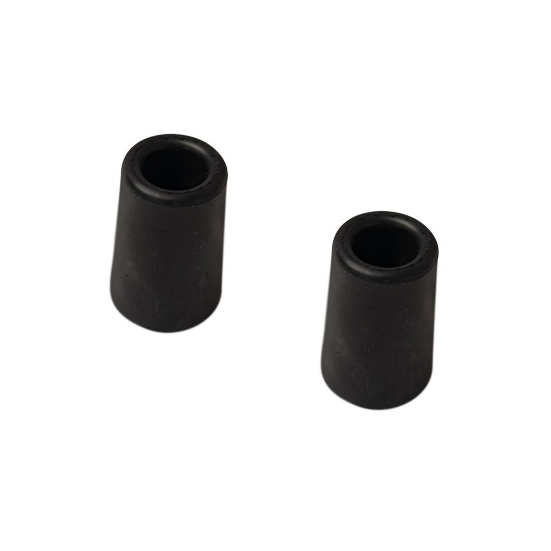 5x stuks deurstopper - deurbuffer rubber zwart 60 mm