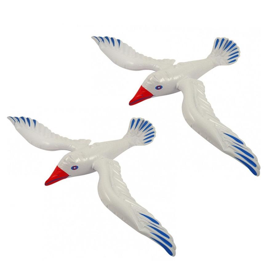 5x stuks opblaasbare zeemeeuw vogels 76 cm