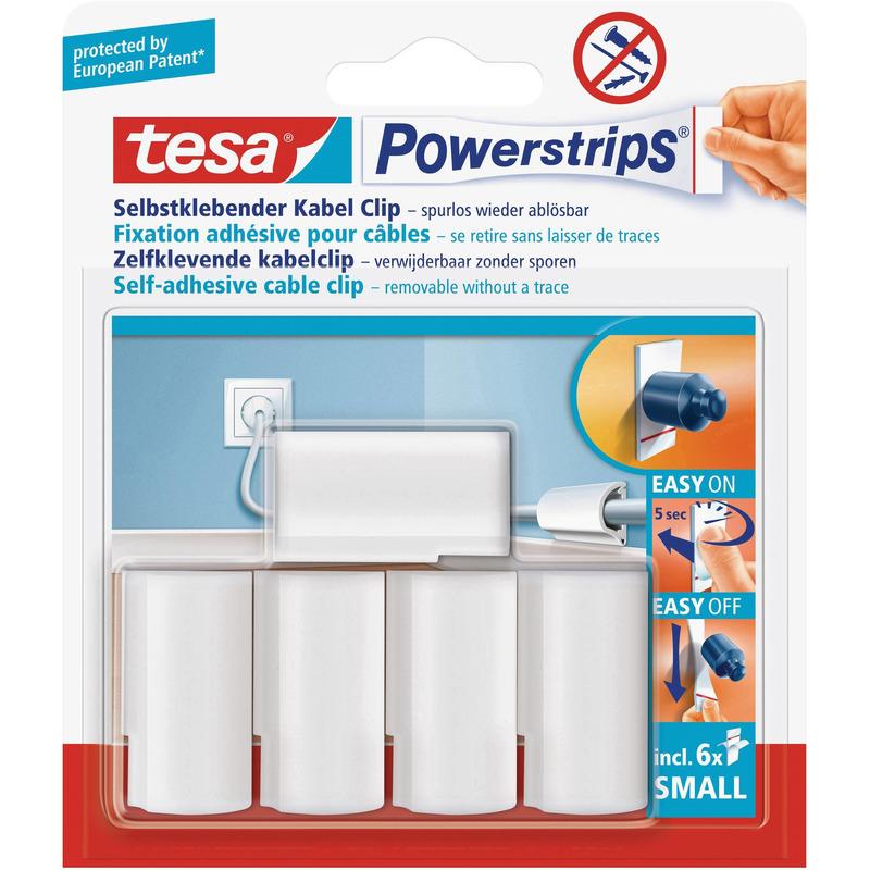 5x Tesa kabelclips/klemmen Powerstrips Klusbenodigdheden