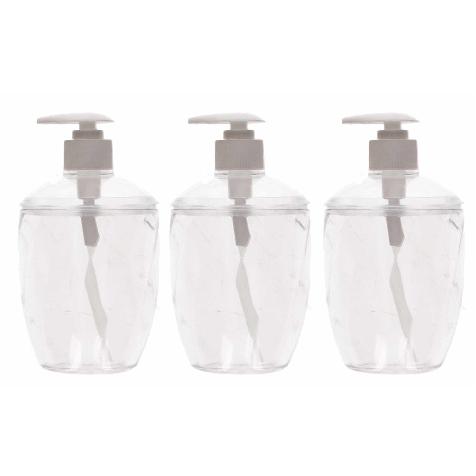 5x Zeep pompjes-dispensers transparant 16 cm