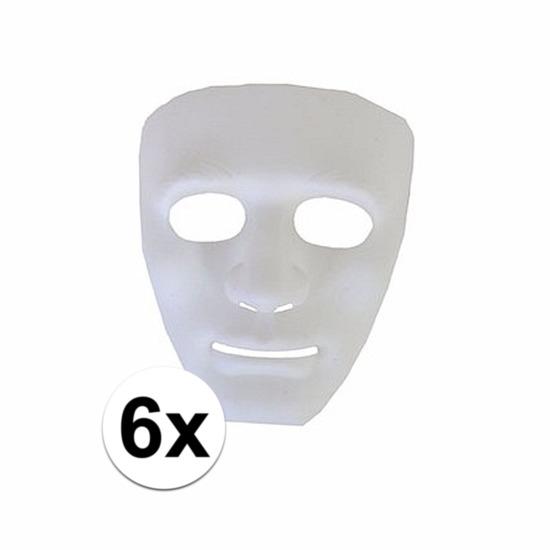 6 plastic spoken gezichtsmaskers