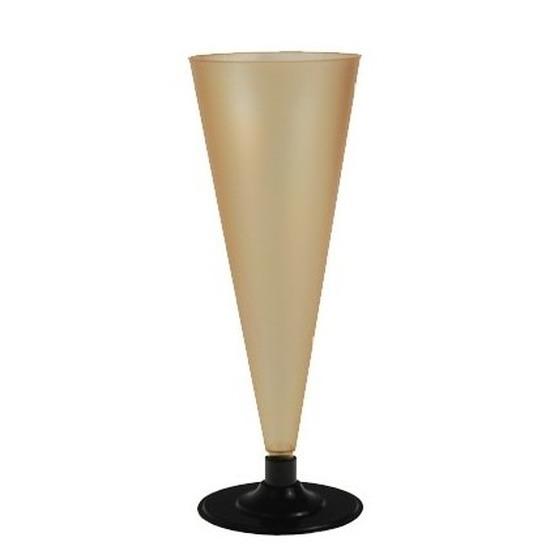 6 x Champagne glazen goudkleurig Goudkleurig