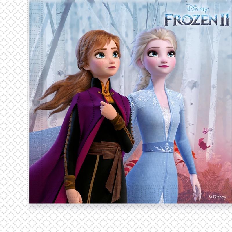 60x Disney Frozen 2 themafeest servetten 33 x 33 cm papier