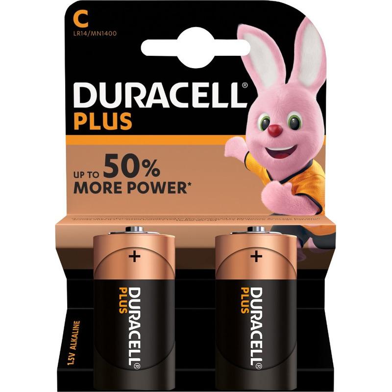 6x Duracell C Plus batterijen alkaline LR14 MN1400 1.5 V