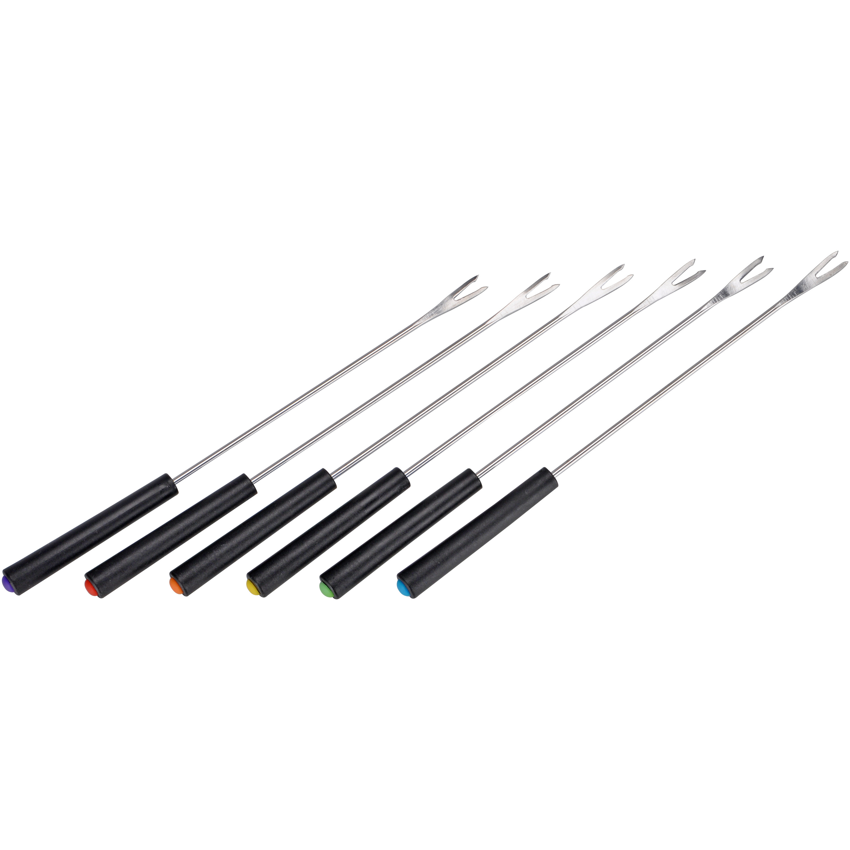 6x Fondue vorken/barbecue spiezen 24 cm - Barbecuespiezen