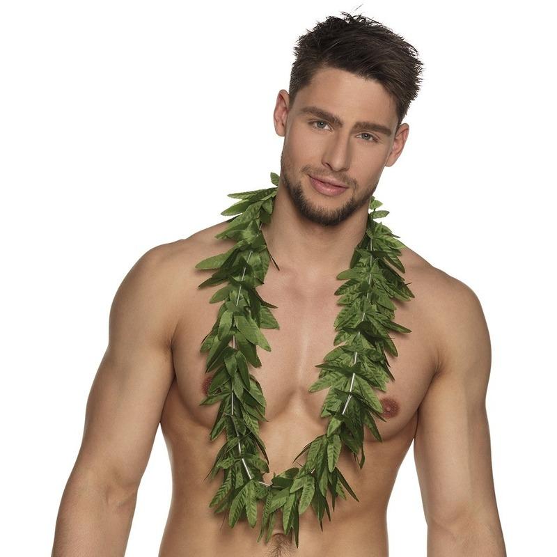 6x Hawaii kransen slingers cannabis blaadjes