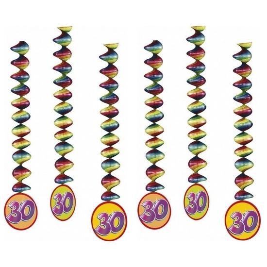 6x Rotorspiralen 30 jaar versiering feestartikelen