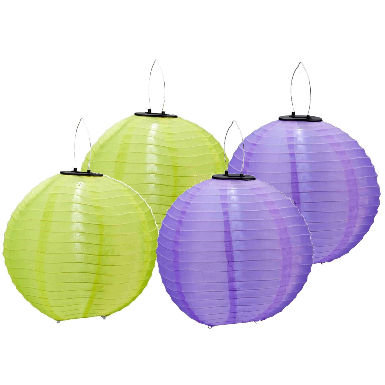 6x stuks gekleurde buiten/tuin party solar lampionnen van 30 cm