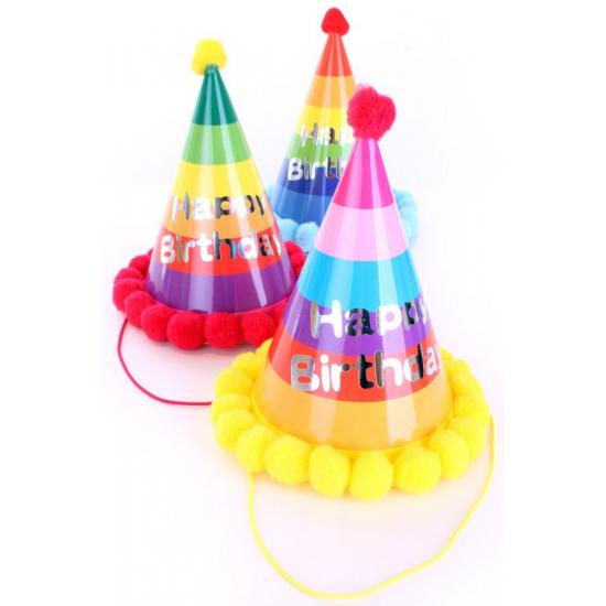 6x stuks verjaardag feesthoedjes volwassenen XL van karton