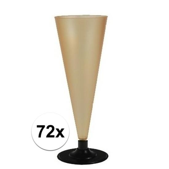 72 x Champagne glazen goudkleurig Goudkleurig