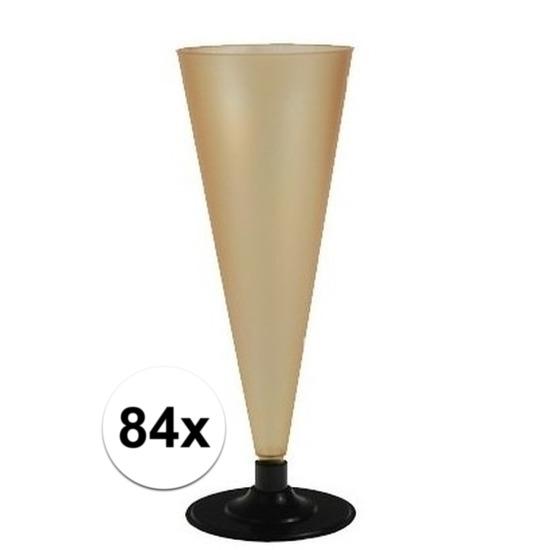 84 x Champagne glazen goudkleurig Goudkleurig