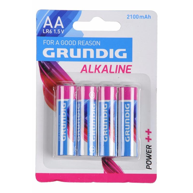 8x Batterijen LR6 AA Grundig 4 stuks