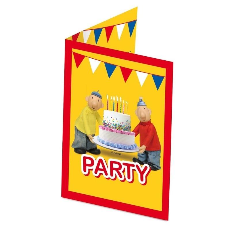 8x Buurman en Buurman themafeest uitnodigingen/kaarten