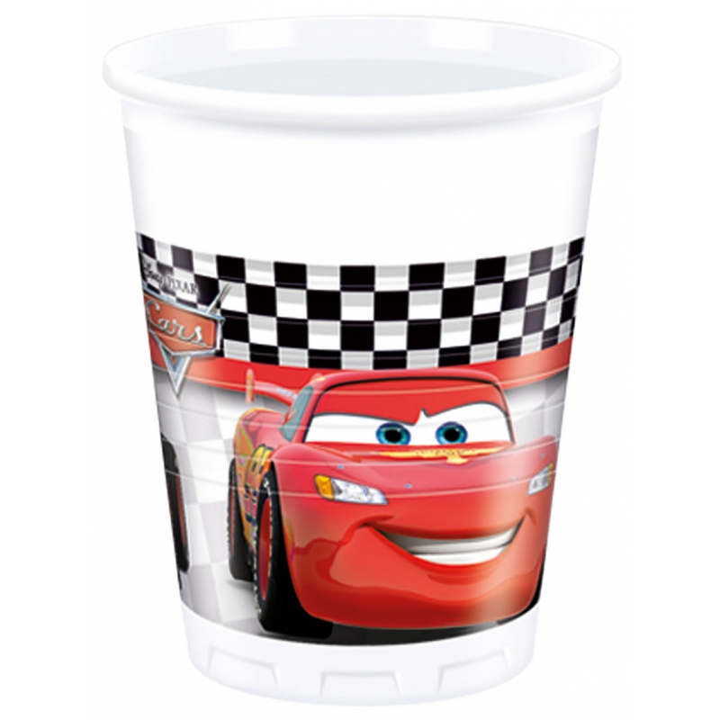 8x Disney Cars themafeest bekers 200 ml