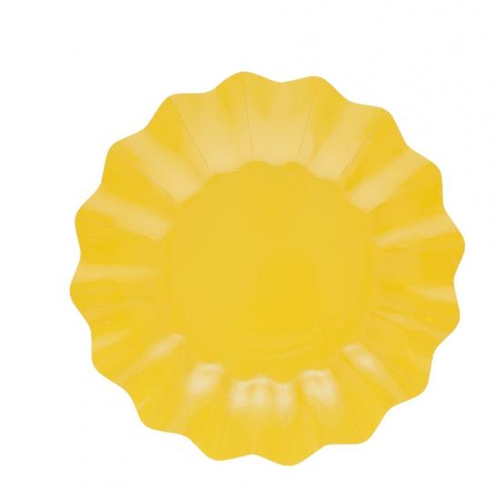 8x Gele diepe borden 27 cm Geel