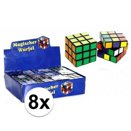 8x stuks voordelige kubus puzzels van 7 cm