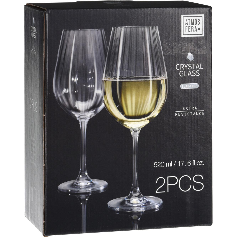 8x Witte wijnglazen 52 cl/520 ml van kristalglas