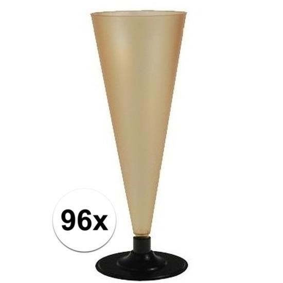 96 x Champagne glazen goudkleurig Goudkleurig
