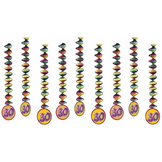 9x Rotorspiralen 30 jaar versiering feestartikelen