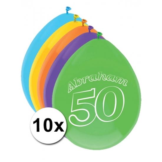 Abraham thema party ballonnen 50 jaar 10 stuks