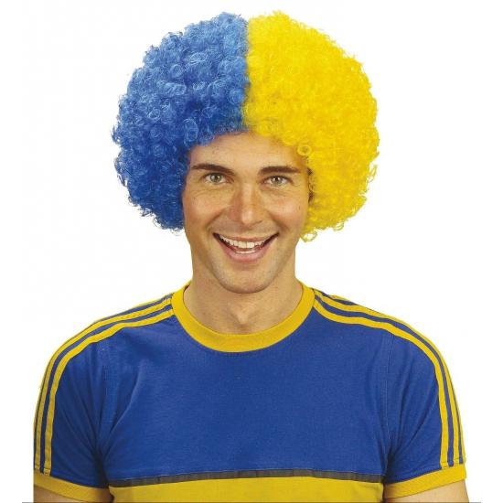 Afropruik blauw - geel