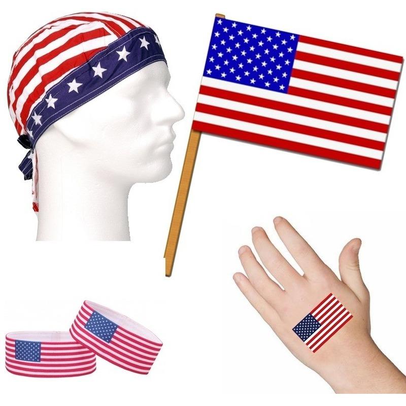 AmerikaUSA thema verkleed set voor volwassenen Amerika