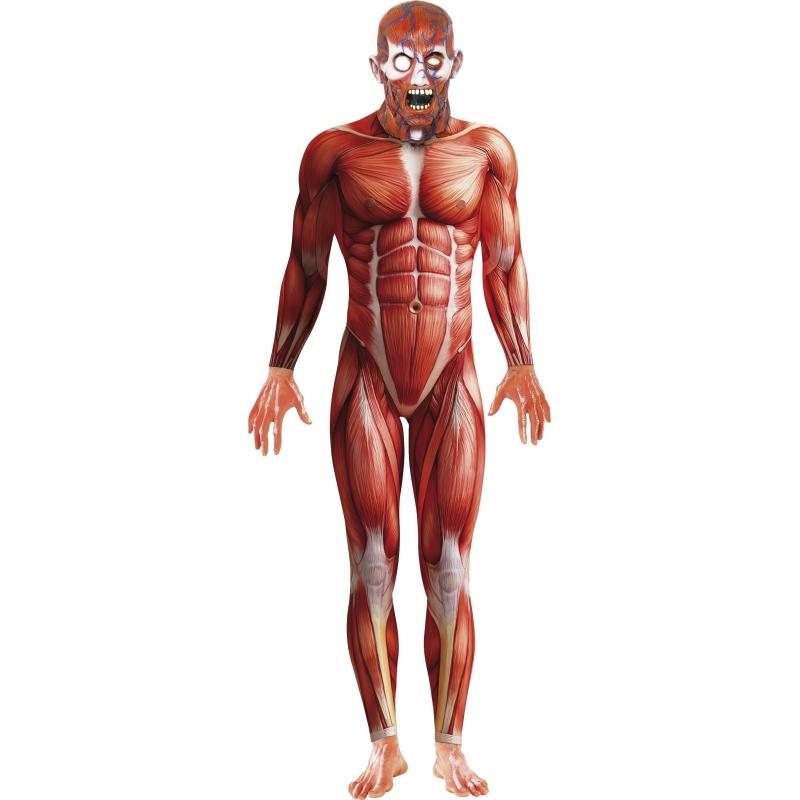 Anatomische man horror bodysuit