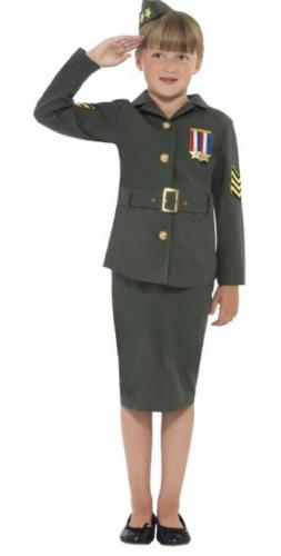 Army girl soldaten kostuum voor meisjes
