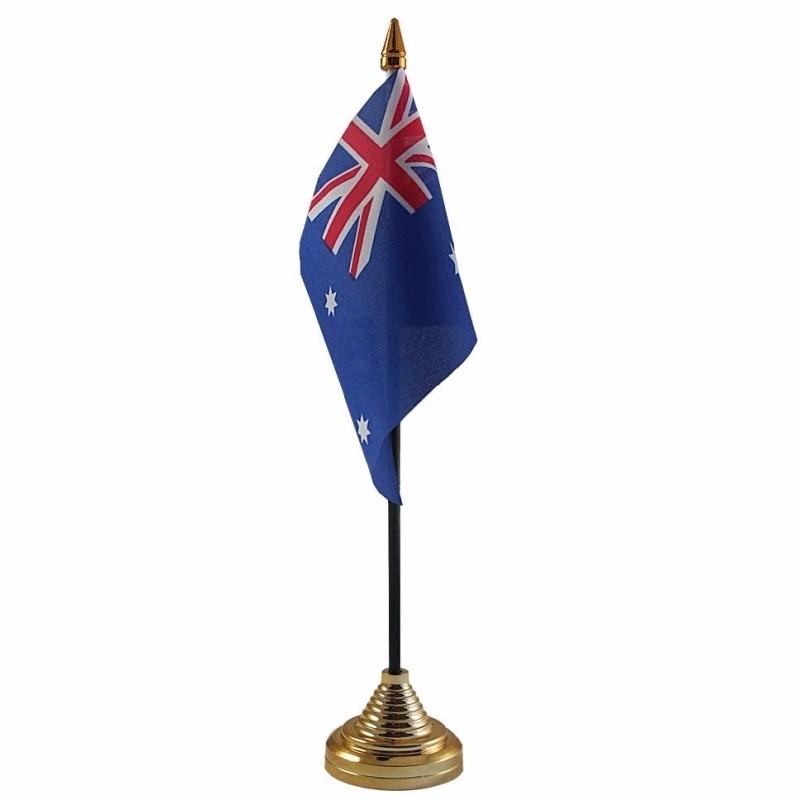 Australie tafelvlaggetje 10 x 15 cm met standaard