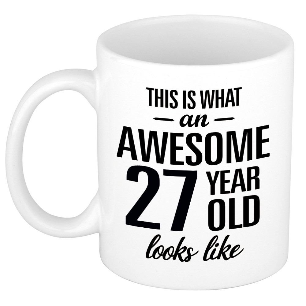 Awesome 27 year cadeau mok - beker 300 ml