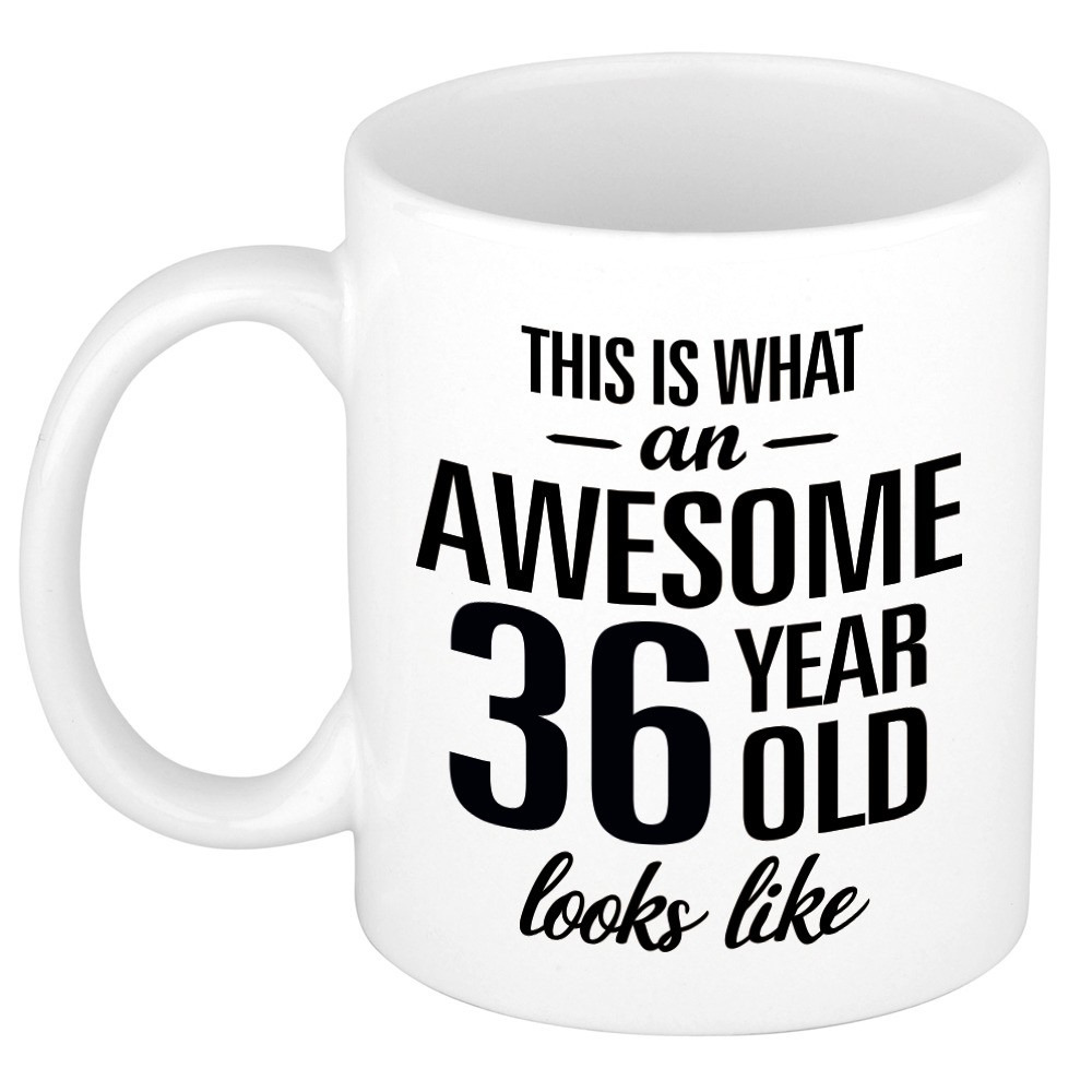 Awesome 36 year cadeau mok - beker 300 ml
