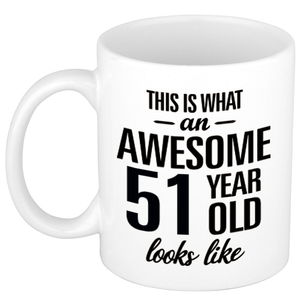 Awesome 51 year cadeau mok - beker 300 ml