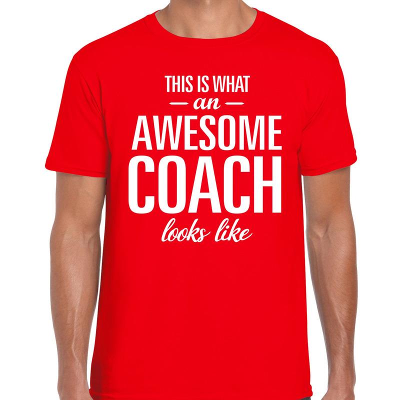 Awesome Coach cadeau t-shirt rood heren