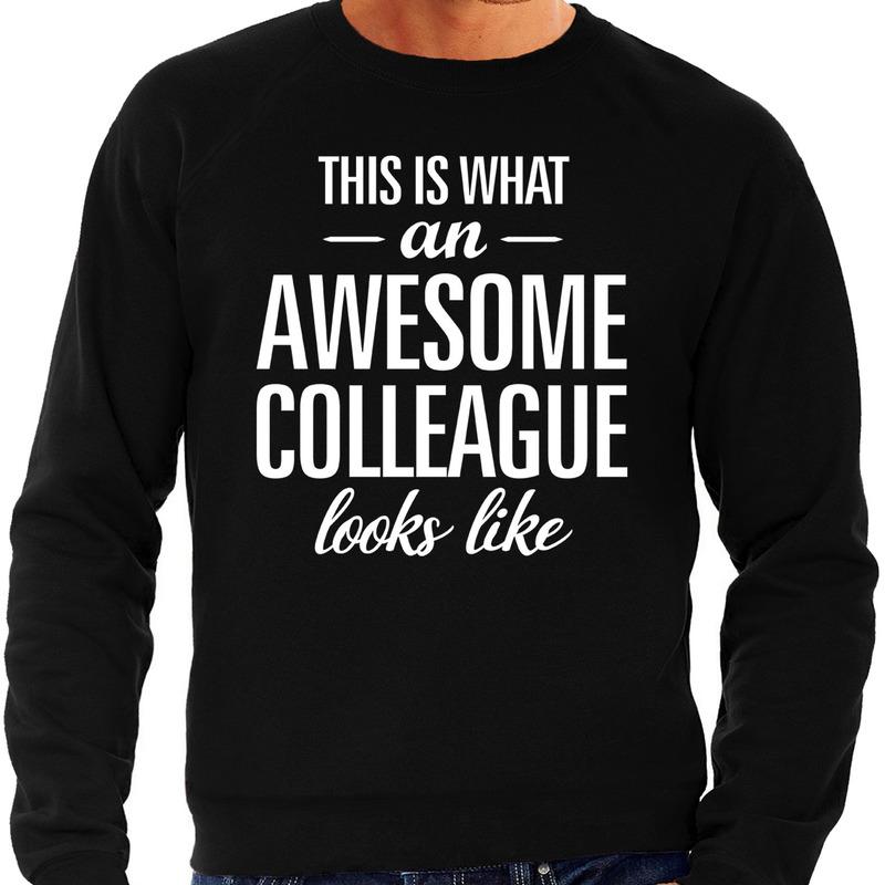 Awesome colleague - collega cadeau sweater zwart heren