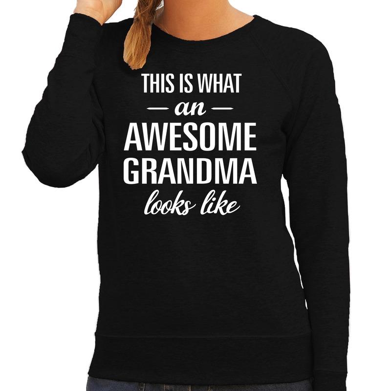 Awesome grandma - oma - grootmoeder cadeau trui zwart dames