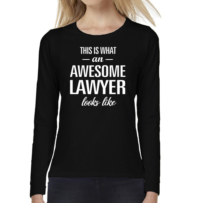Awesome lawyer - advocate cadeau t-shirt long sleeves dames