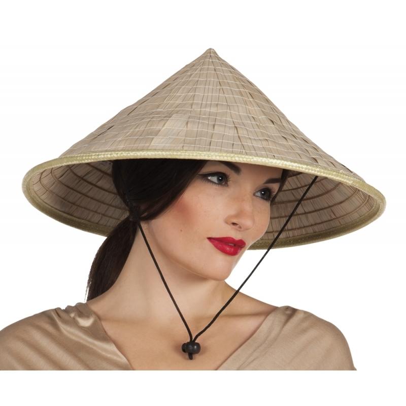 Aziatische hoed Beige